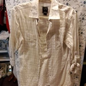 Armani exchange, men's  button down shirt